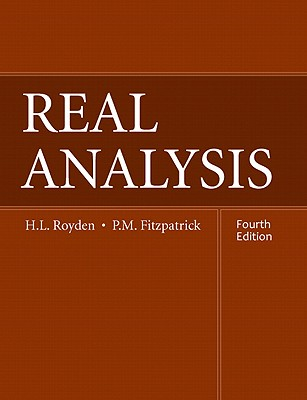Real Analysis By Royden, H. L./ Fitzpatrick, P. M.